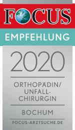 Empfehlungssiegel Orthopädin/Unfallchirurgin im Landkreis Bochum Angela Moewes Orthopädin Unfallchirurgin